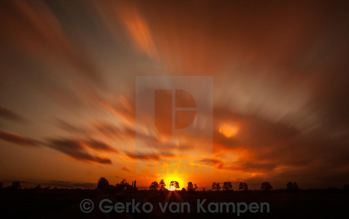 """""""Motion Sunset"""" stock image"""