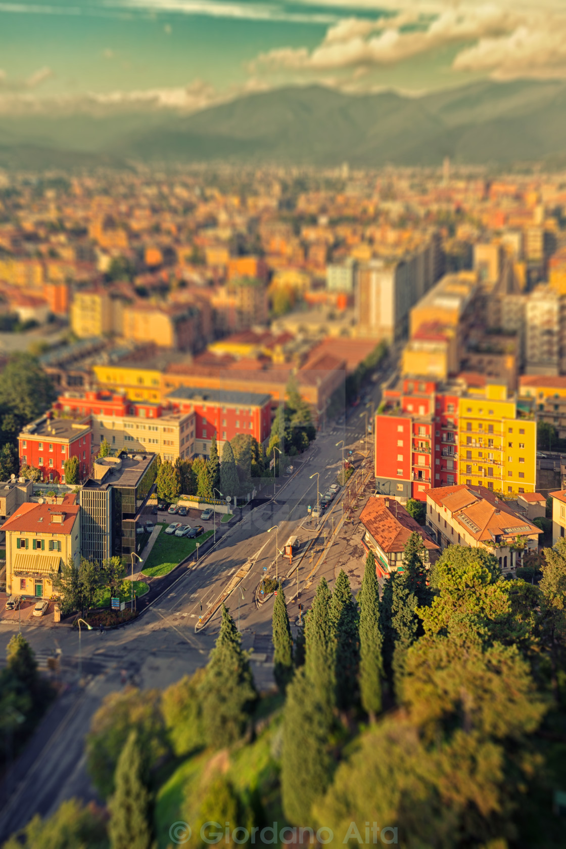 """Tilt shift town"" stock image"
