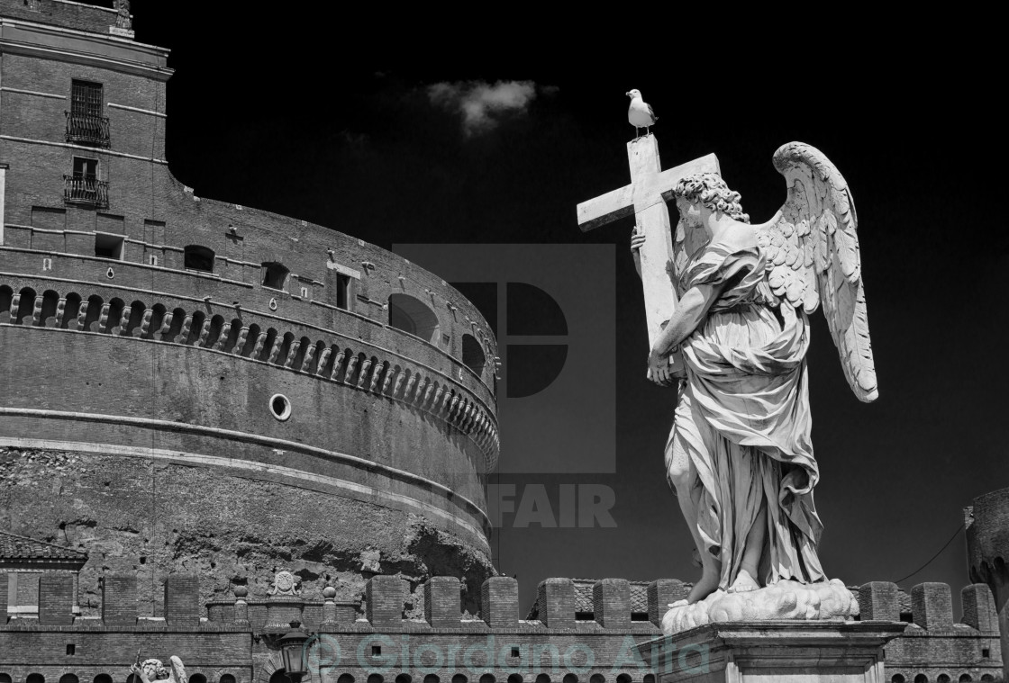 """Rome - Sant'Angelo's bridge"" stock image"
