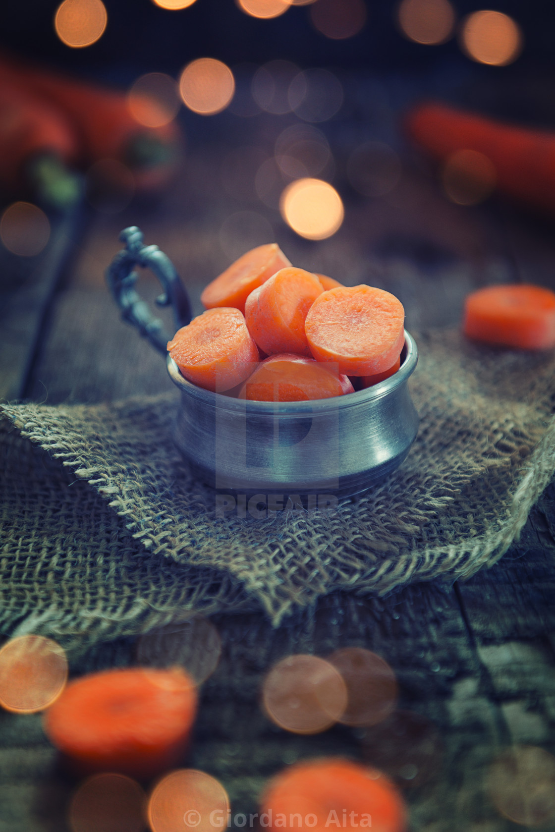 """Sliced carrots"" stock image"