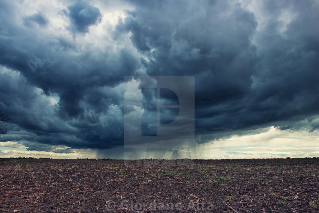"""Dark cloudy sky"" stock image"