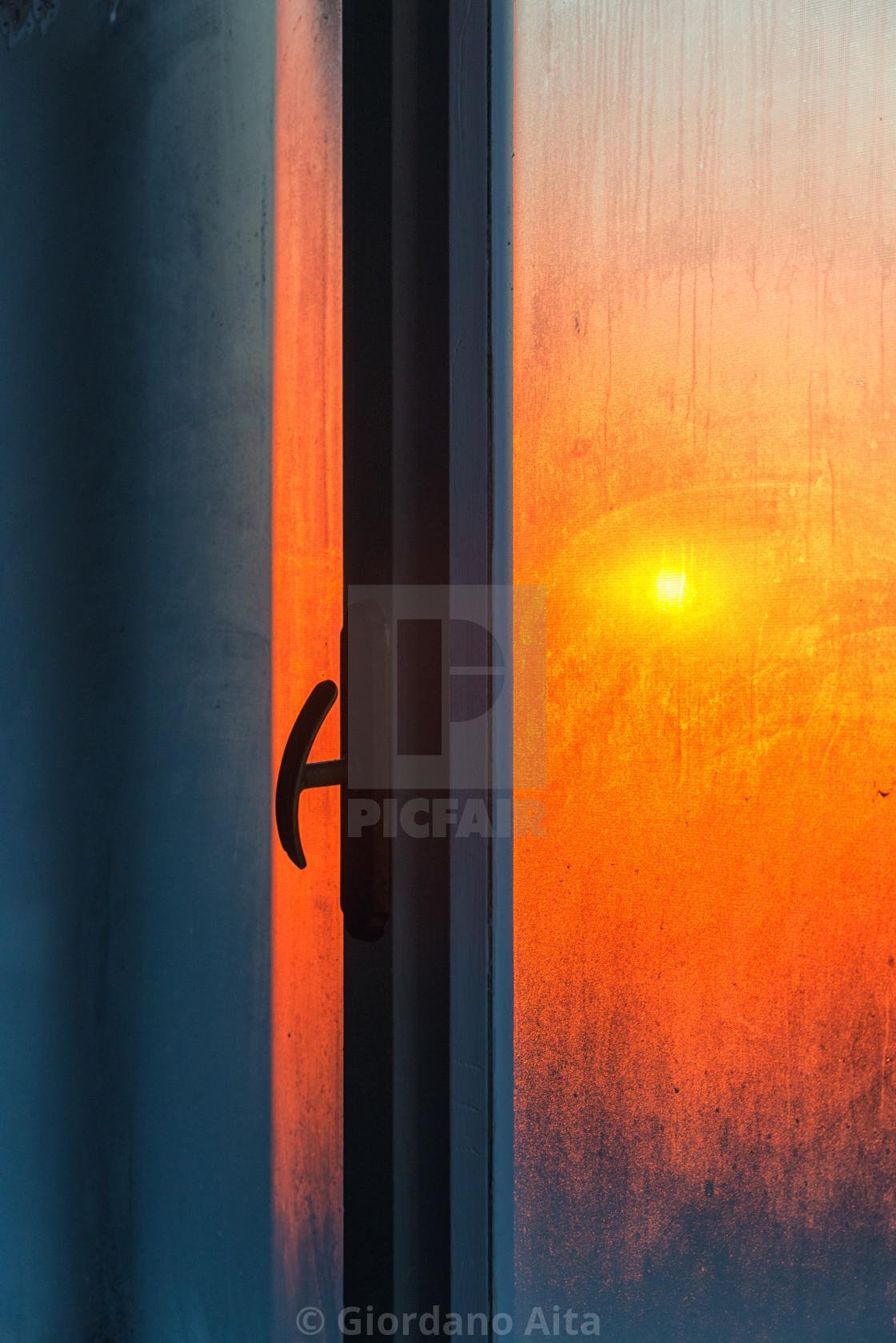 """Sunrise in the windows"" stock image"