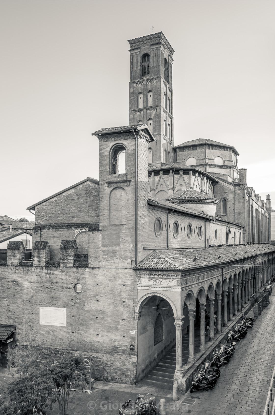 Rear view of the monumental complex of San Giacomo Maggiore. Bologna ...
