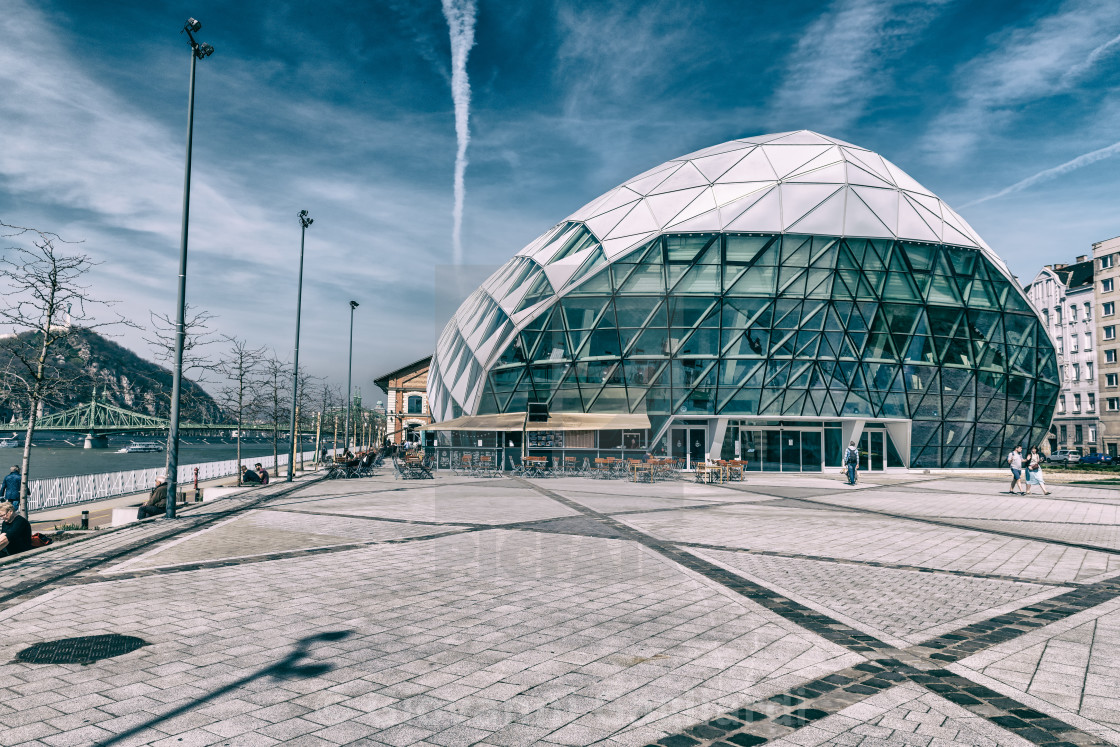 New Budapest Gallery along Danube river on a sunny day, Hungary