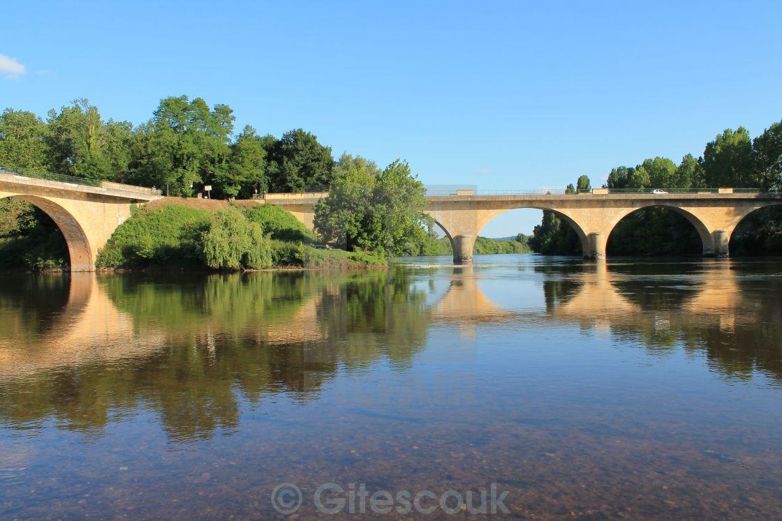 """Confluence of Vezere and Dordogne Rivers"" stock image"