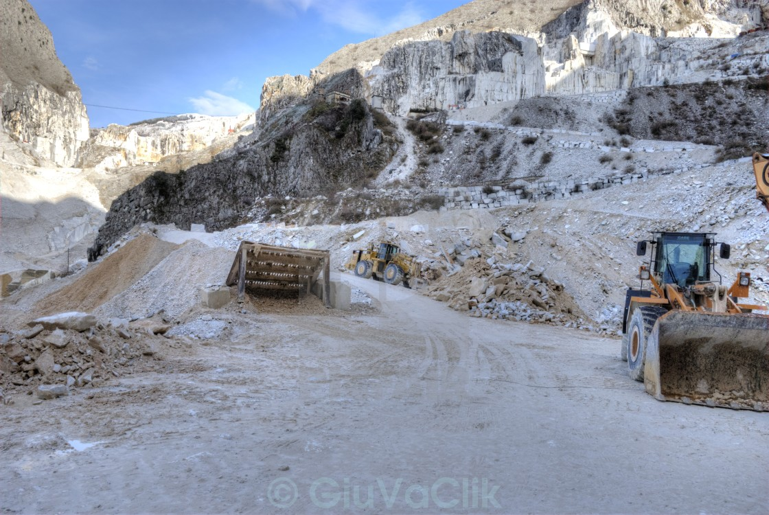 marble quarries of Carrara - License, download or print for
