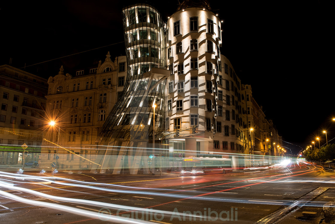 """Prague - dancing house"" stock image"