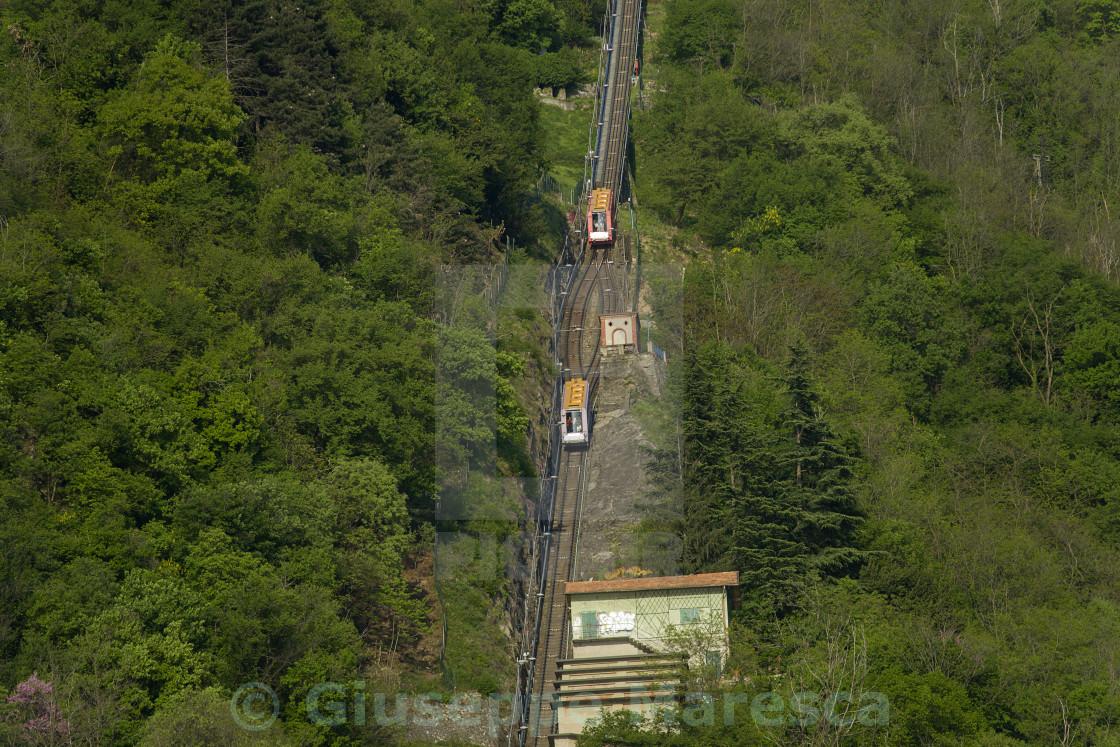 """Como, the funicolar railway"" stock image"
