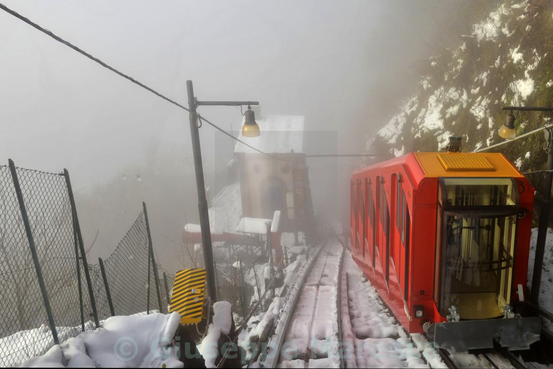 """""""Lake Como, Brunate, funicular."""" stock image"""