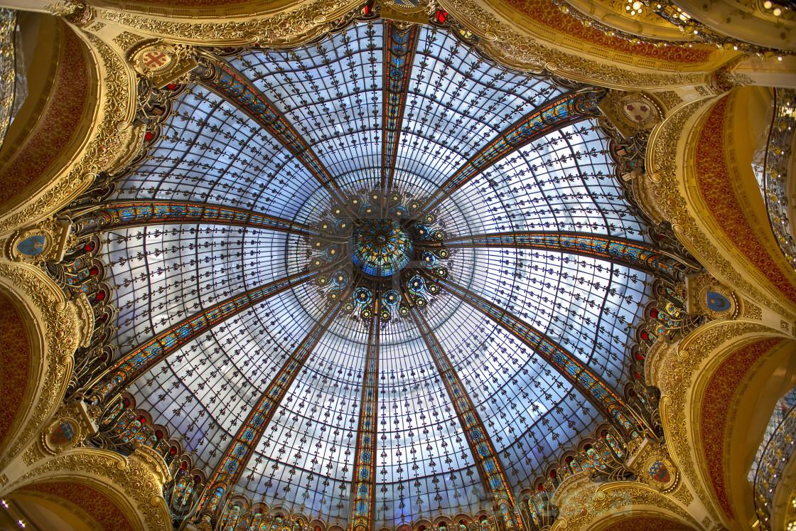 """Galeries Lafayette, Paris"" stock image"