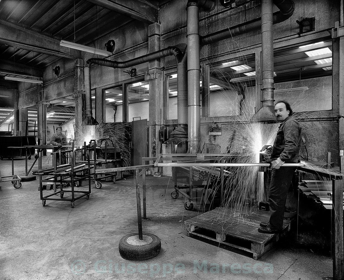 """Metalworkers."" stock image"