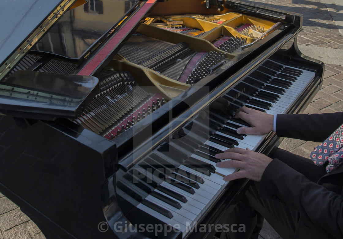"""Playng piano"" stock image"