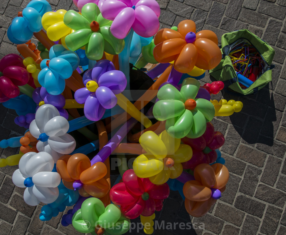 """Colorful balloons."" stock image"