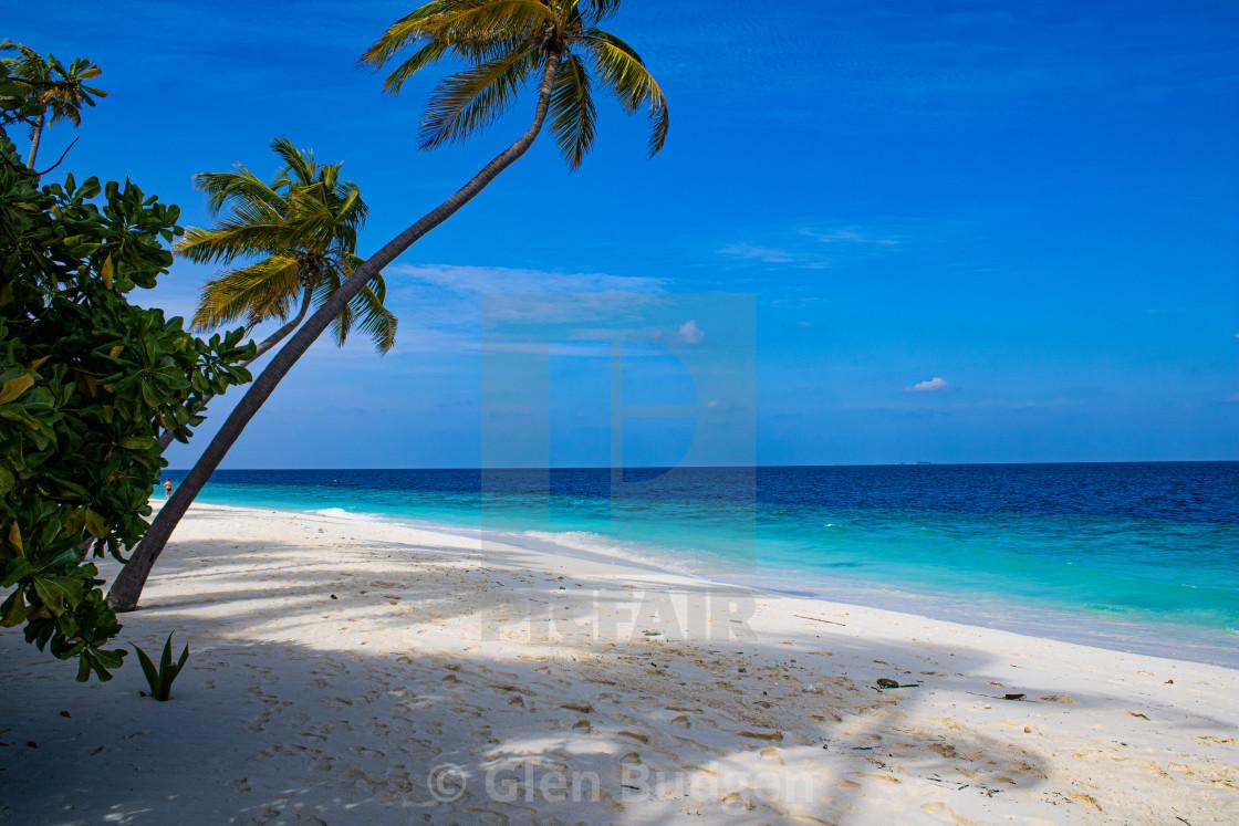 """Maldives Sandy Beach"" stock image"