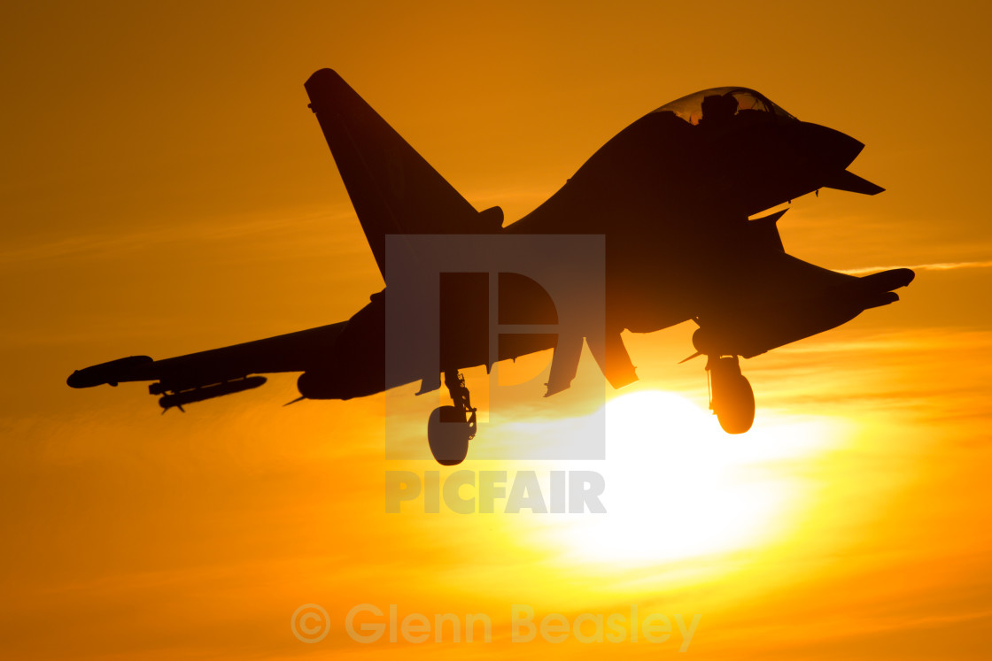 """Royal Air Force Typhoon T3"" stock image"