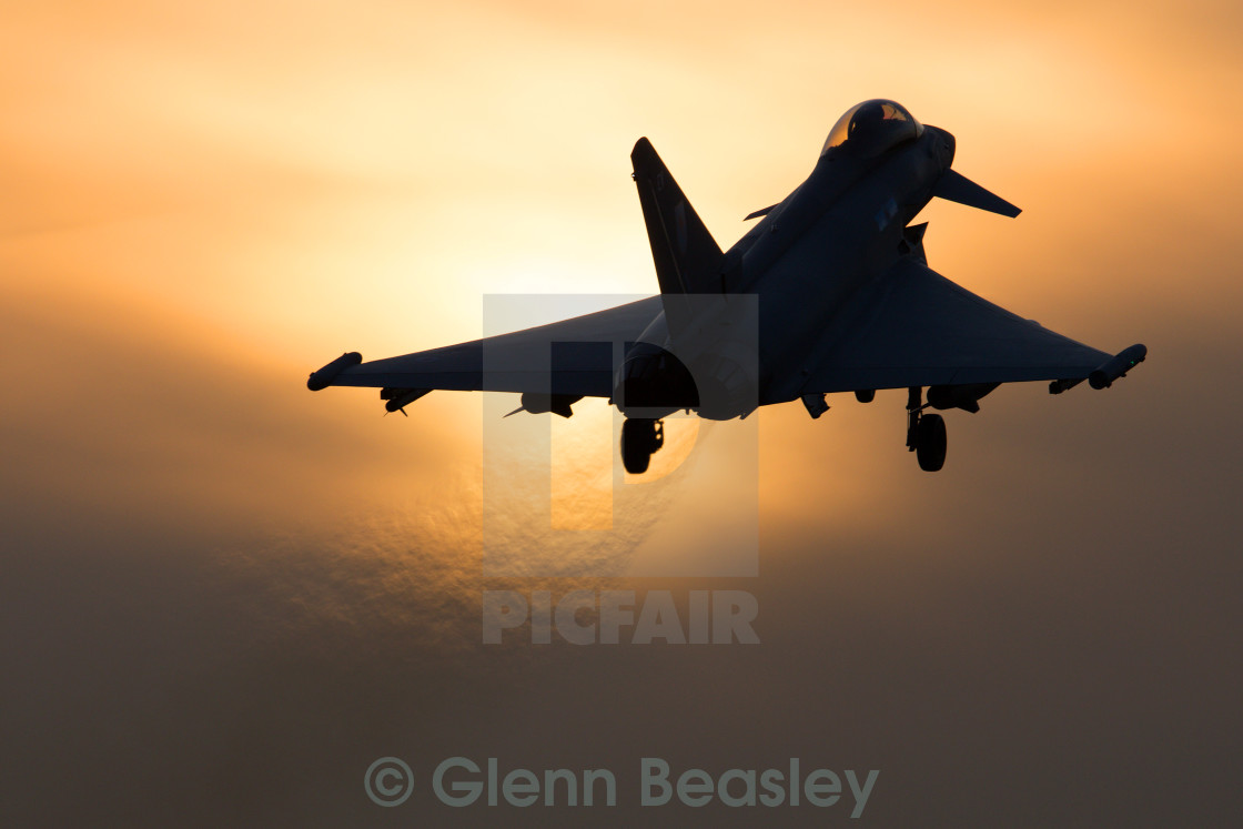 """Typhoon FGR4 ZK320/EV Sunset"" stock image"