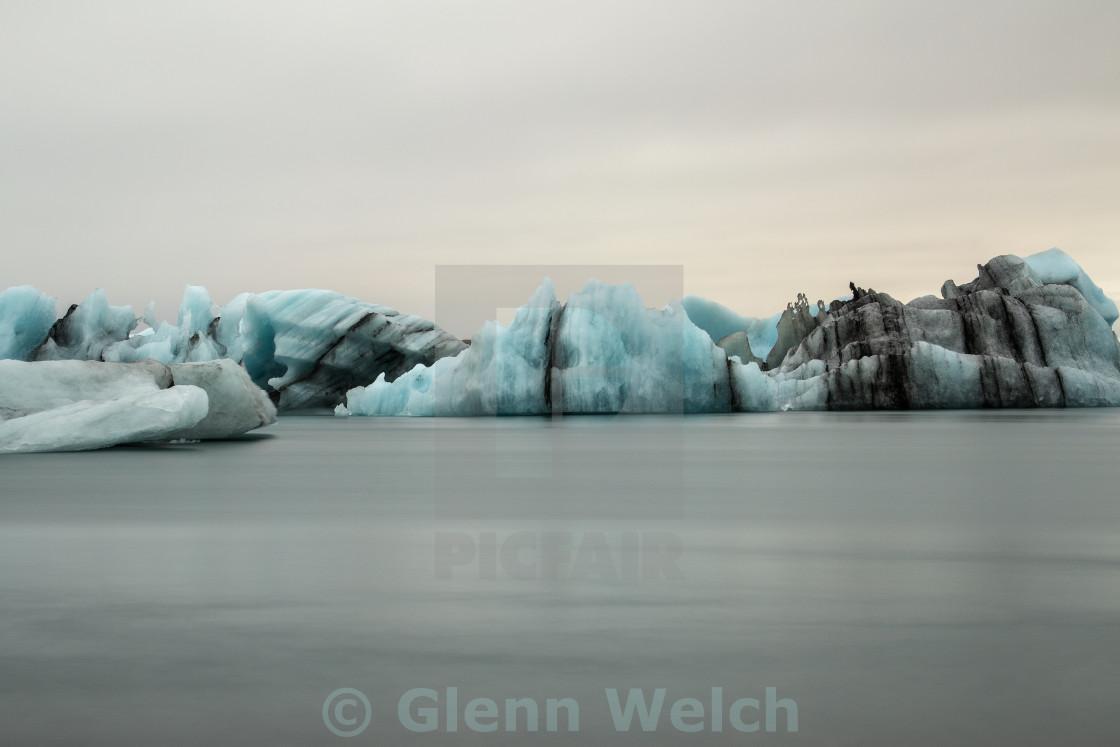 """Iceberg on Jokulsárlon Glacial Lagoon, Iceland"" stock image"