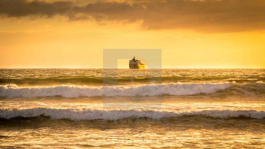 """On Golden Horizon"" stock image"