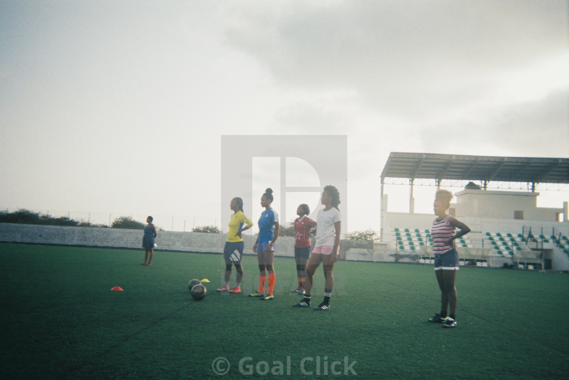 """Women's football training session"" stock image"