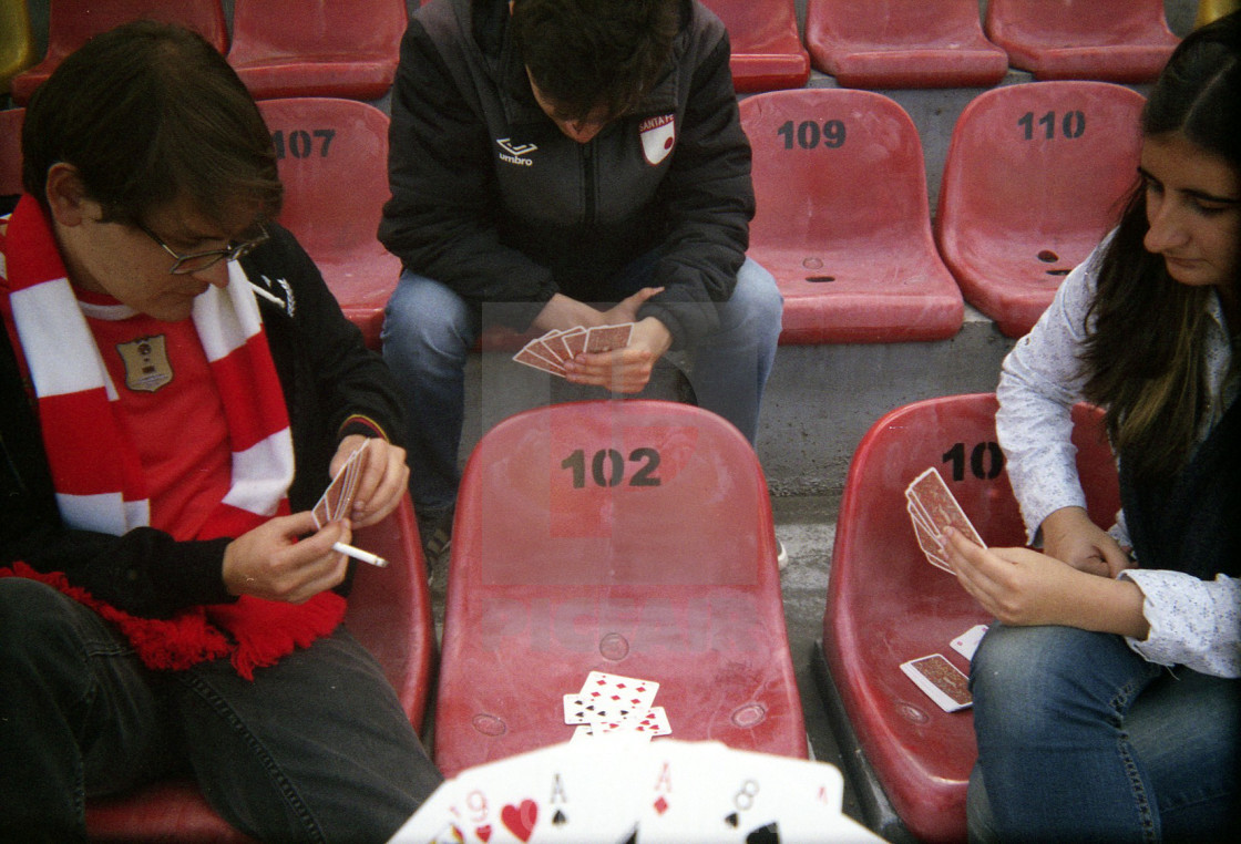 """Pre-match cards"" stock image"