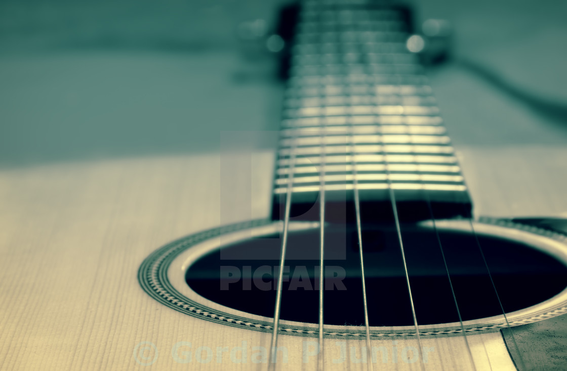 """An acoustic guitar"" stock image"