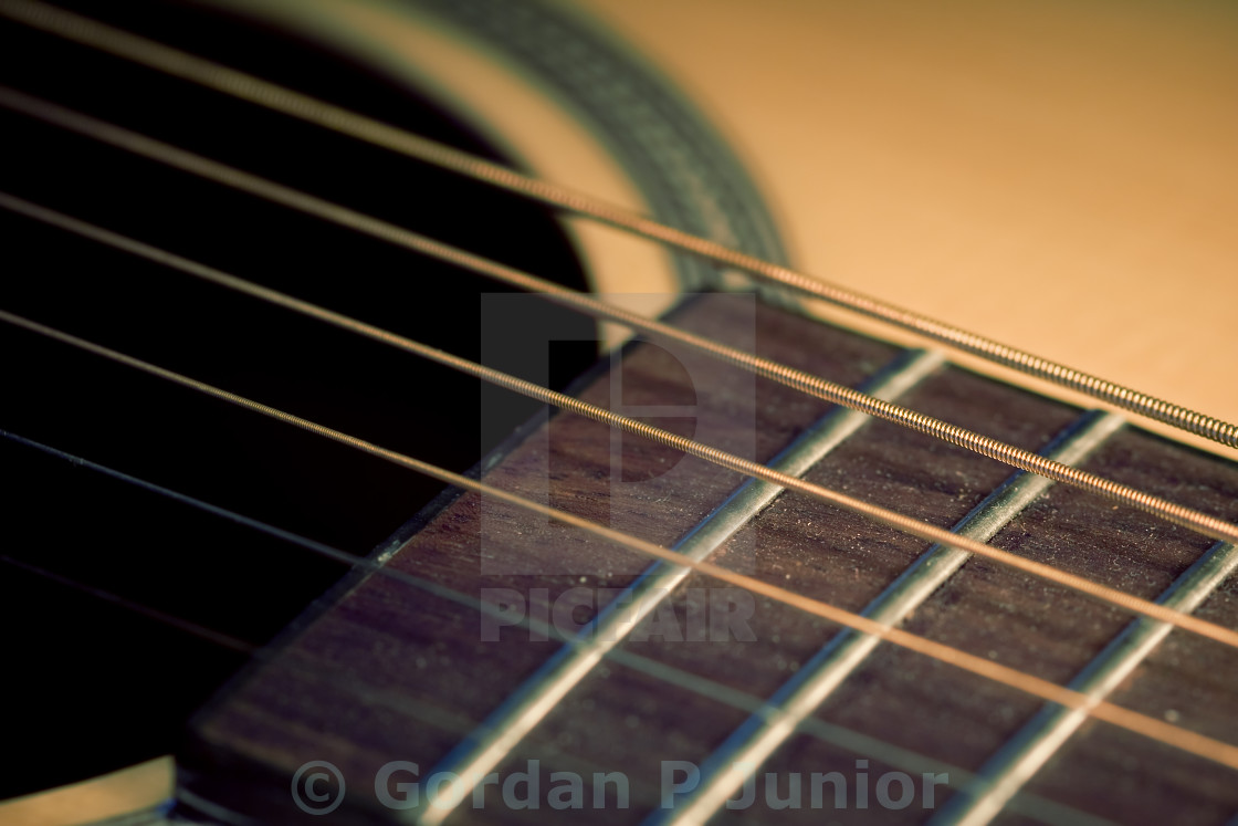 """""""An acoustic guitar"""" stock image"""