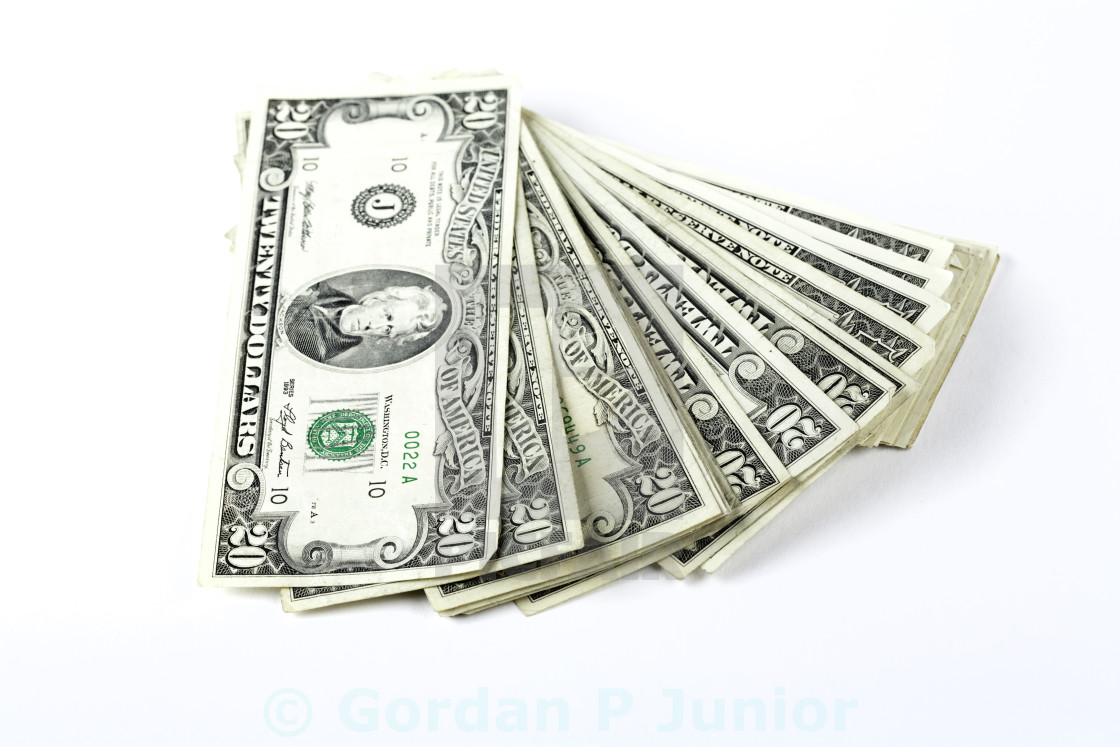 """Money roll"" stock image"