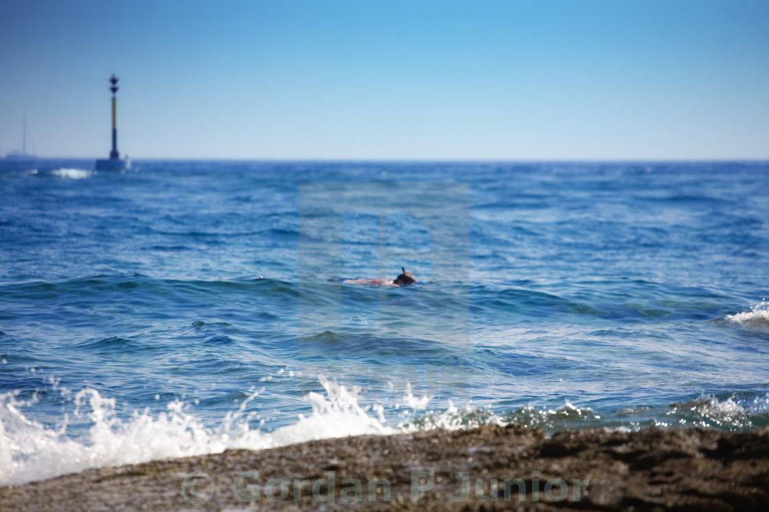 """Rocky beach"" stock image"