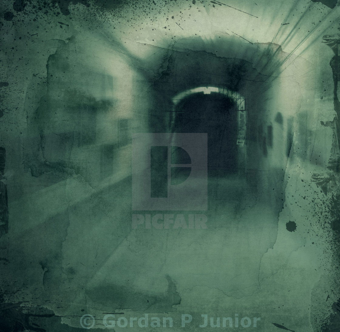 """Grunge textured background - hallway"" stock image"
