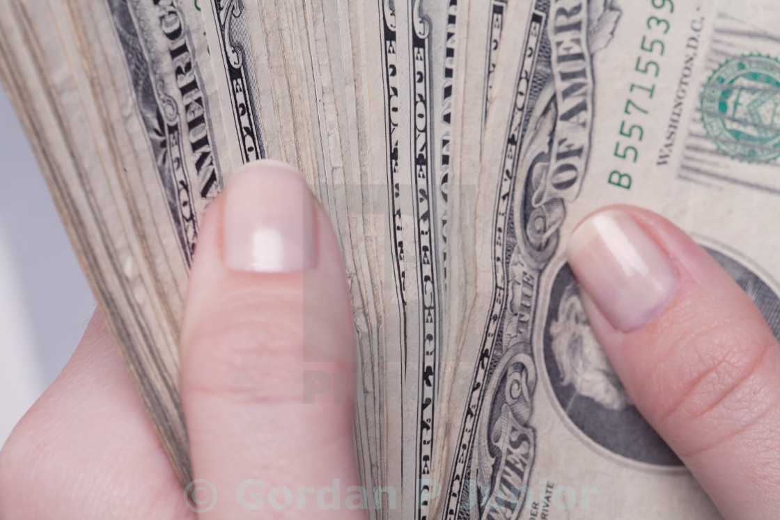 """""""Counting money"""" stock image"""