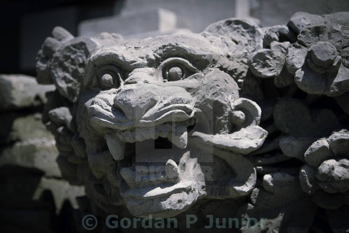 """Balinese temple - God statue"" stock image"