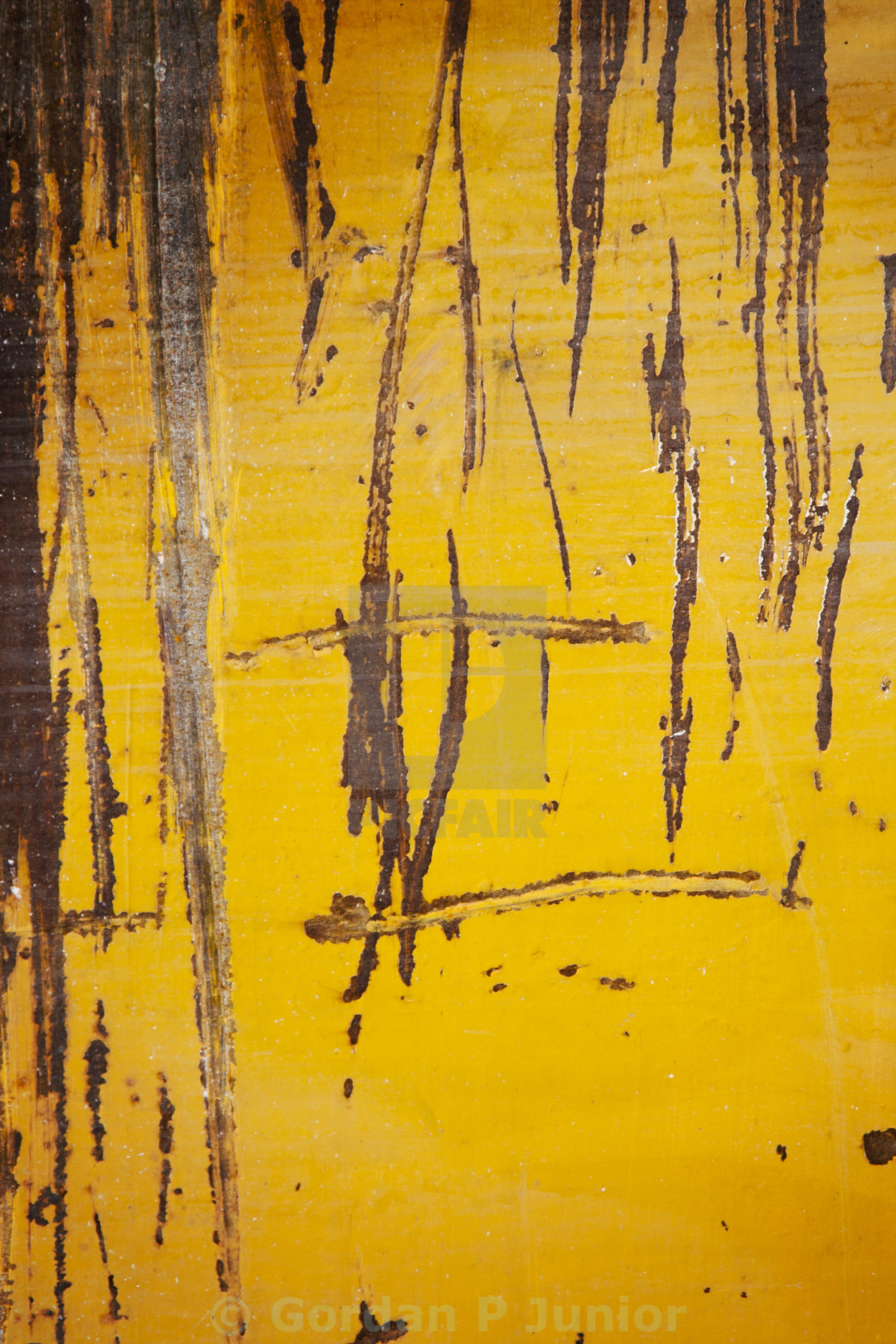 """""""Grunge yellow metal texture or background"""" stock image"""