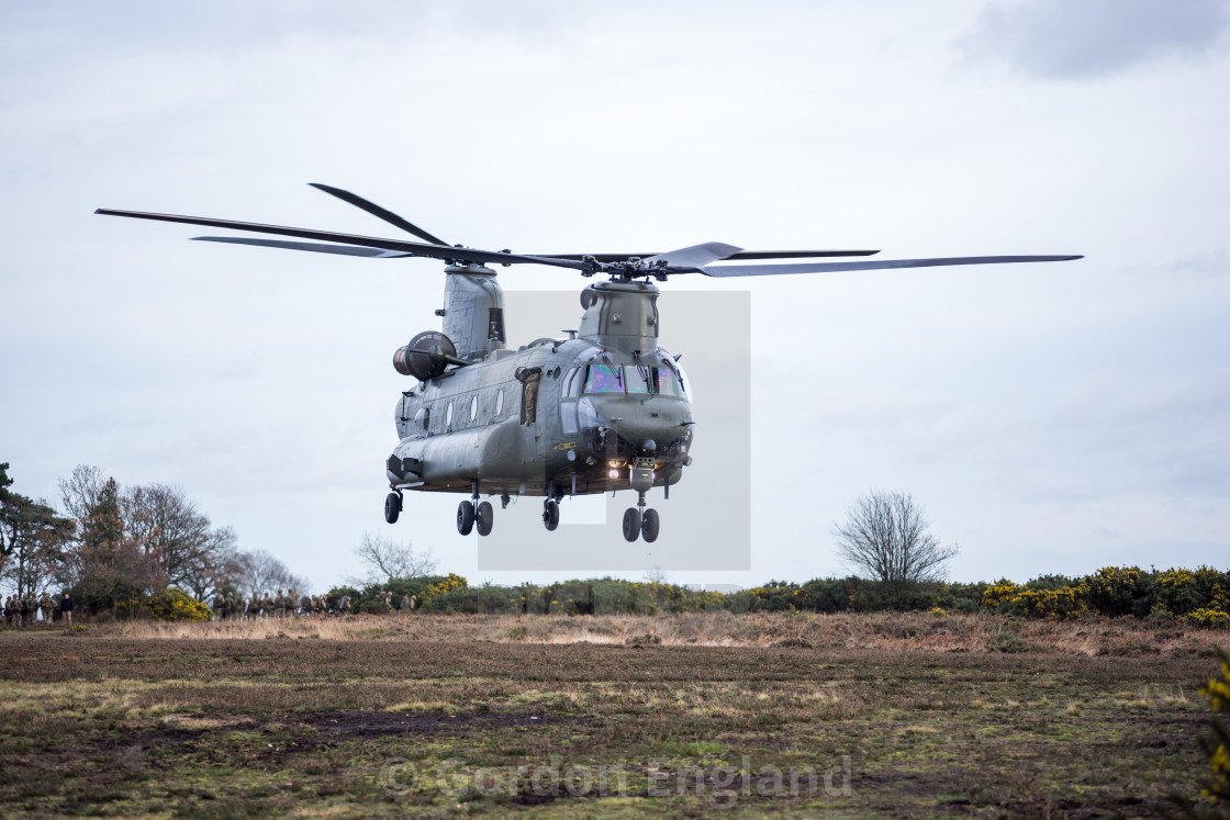 """""""Chinook Helicopter"""" stock image"""