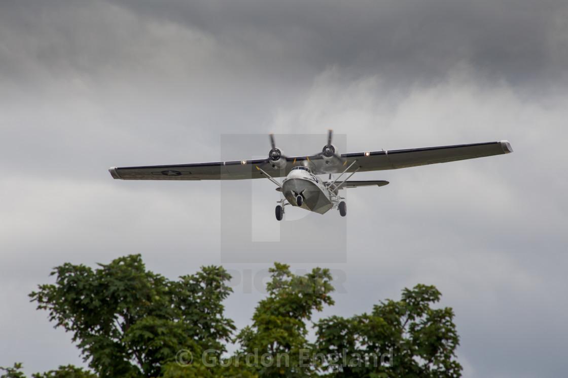 """G-PBYA Catalina Flying Boat"" stock image"