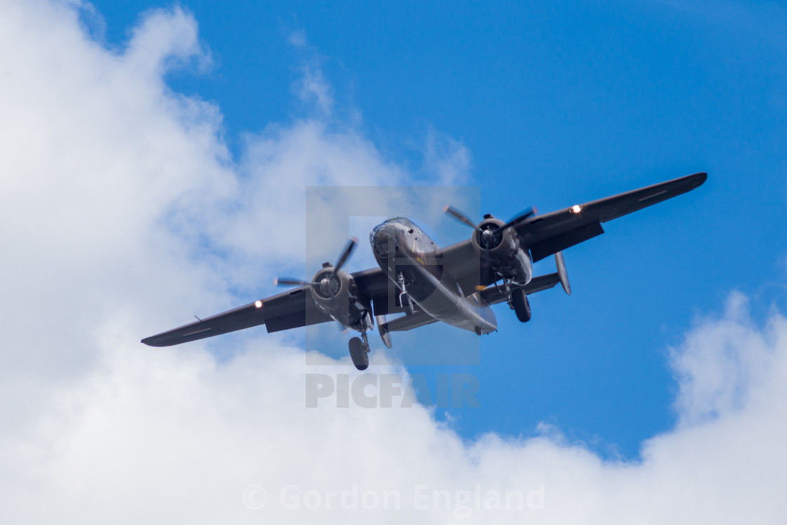 """North American B-25 Mitchell Bomber Aircraft"" stock image"