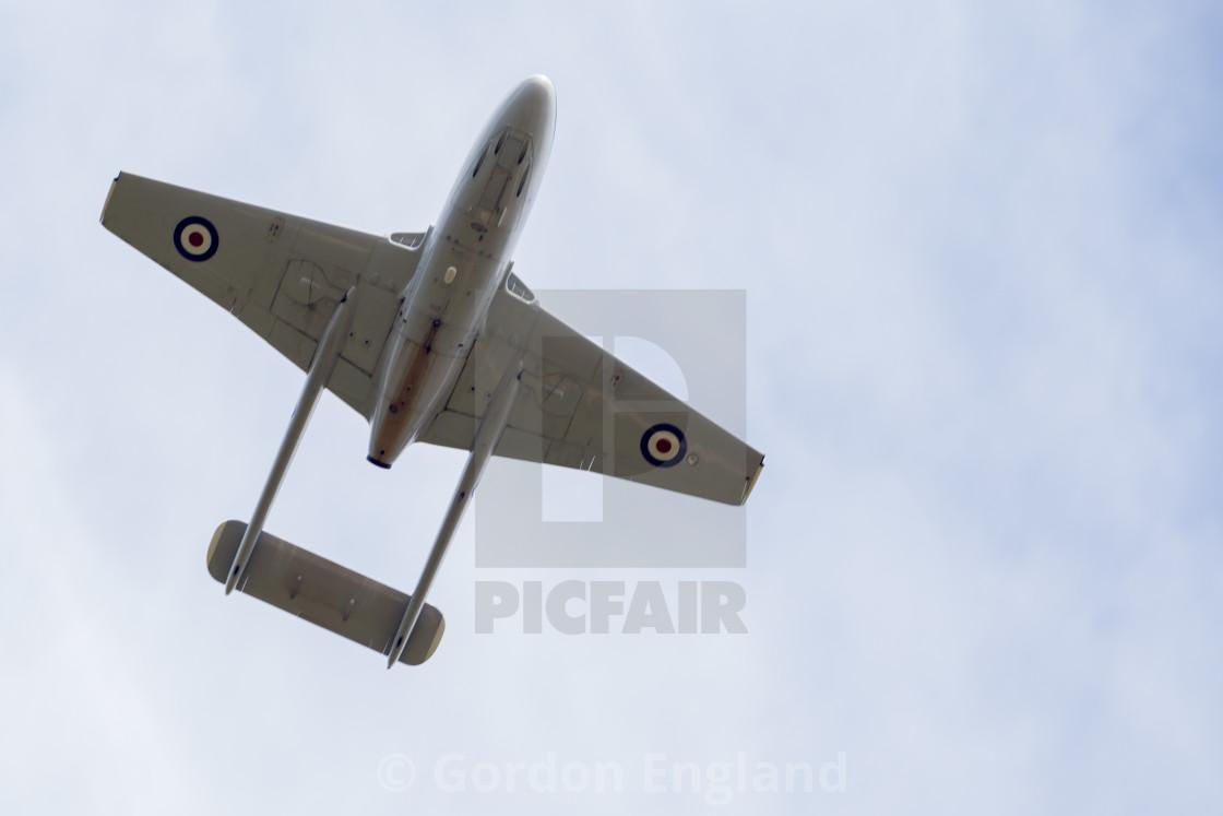 """de Havilland Vampire"" stock image"