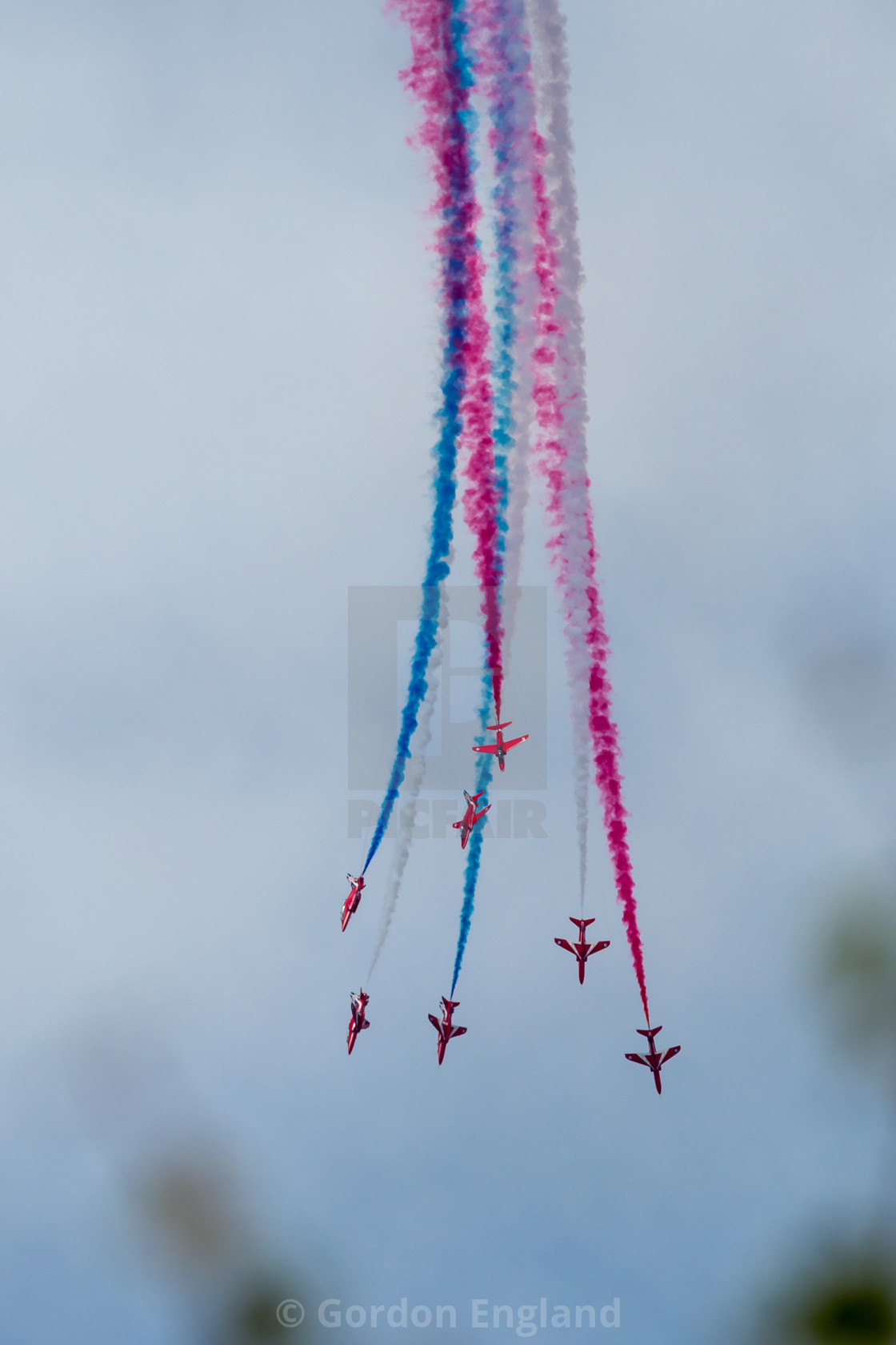 """""""Red Arrows Display"""" stock image"""