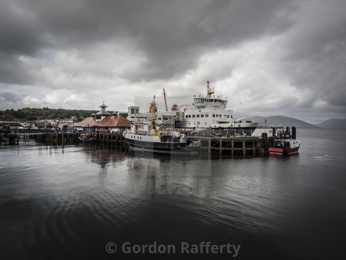 """Rothesay Harbour - Bute"" stock image"