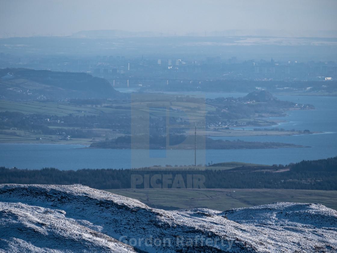 """""""Misty Glasgow"""" stock image"""