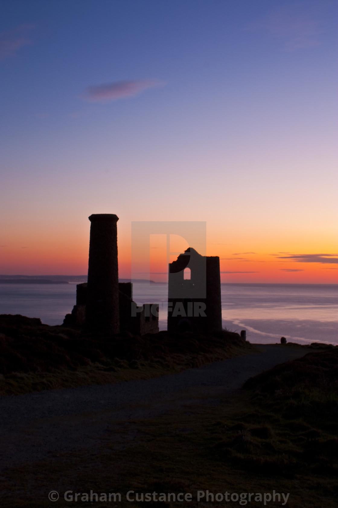 """Cornwall Sunset"" stock image"