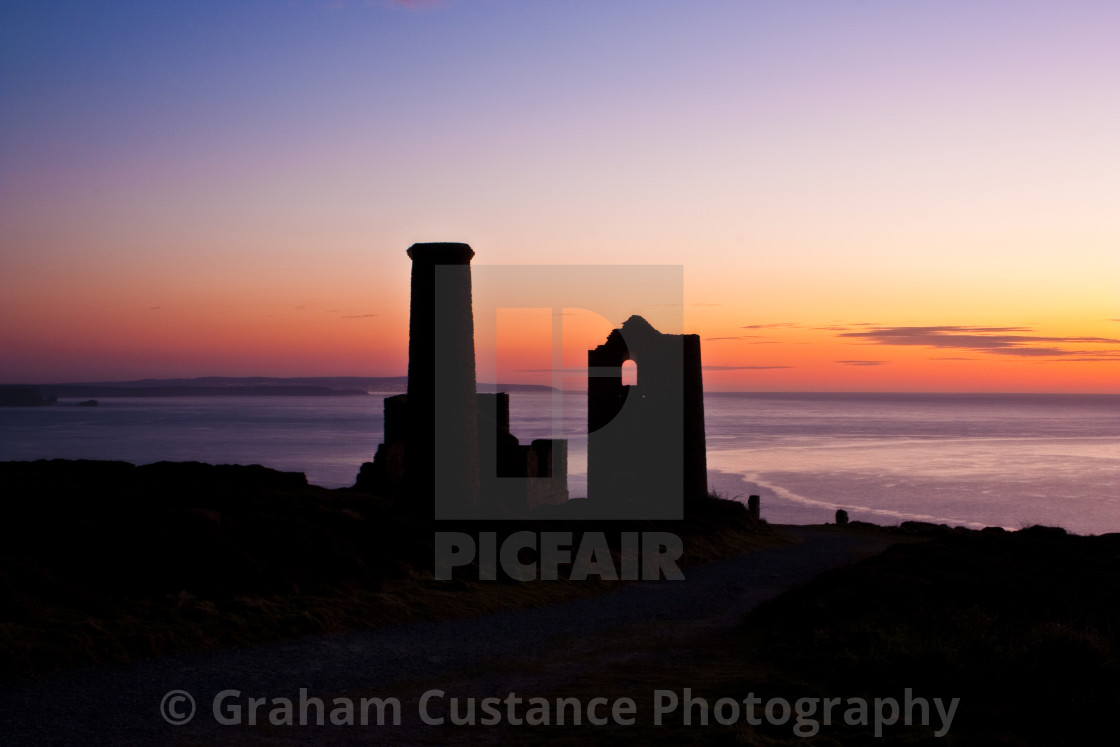 """Cornwall Sunset"" stock image"