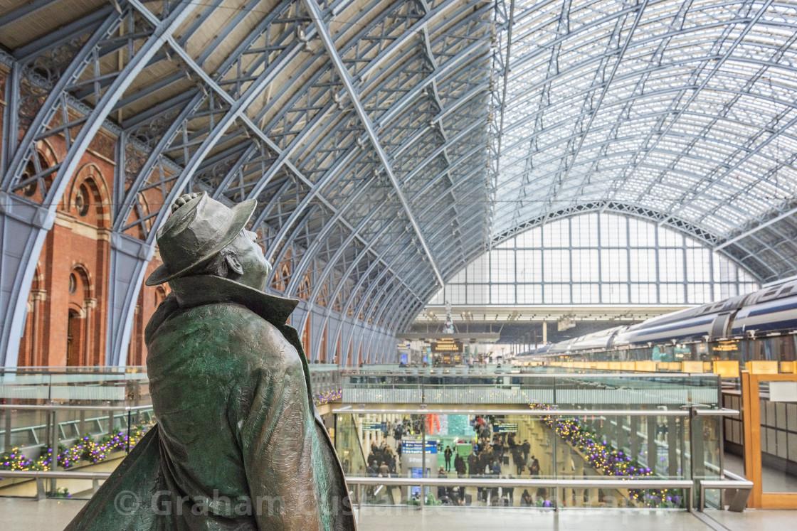 """St Pancras International Station"" stock image"