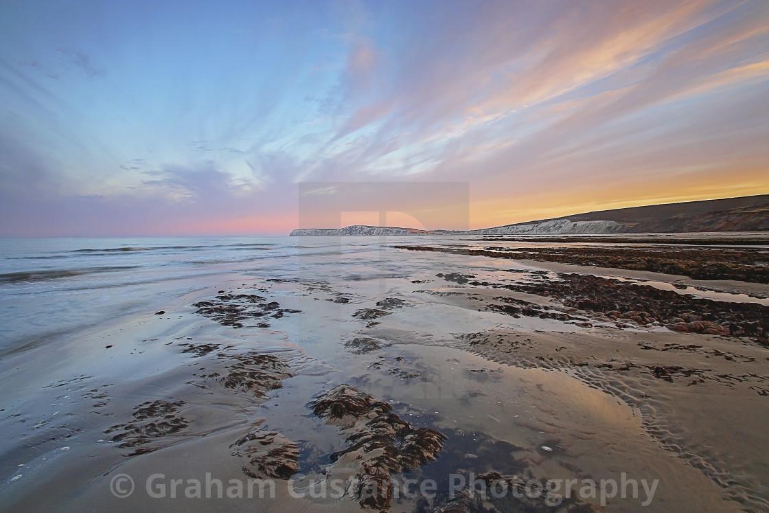 """""""Isle of Wight Sunrise"""" stock image"""