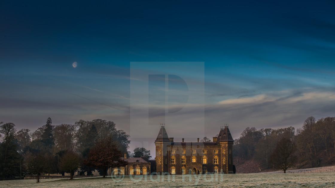 """""""Dawn on Newton House"""" stock image"""