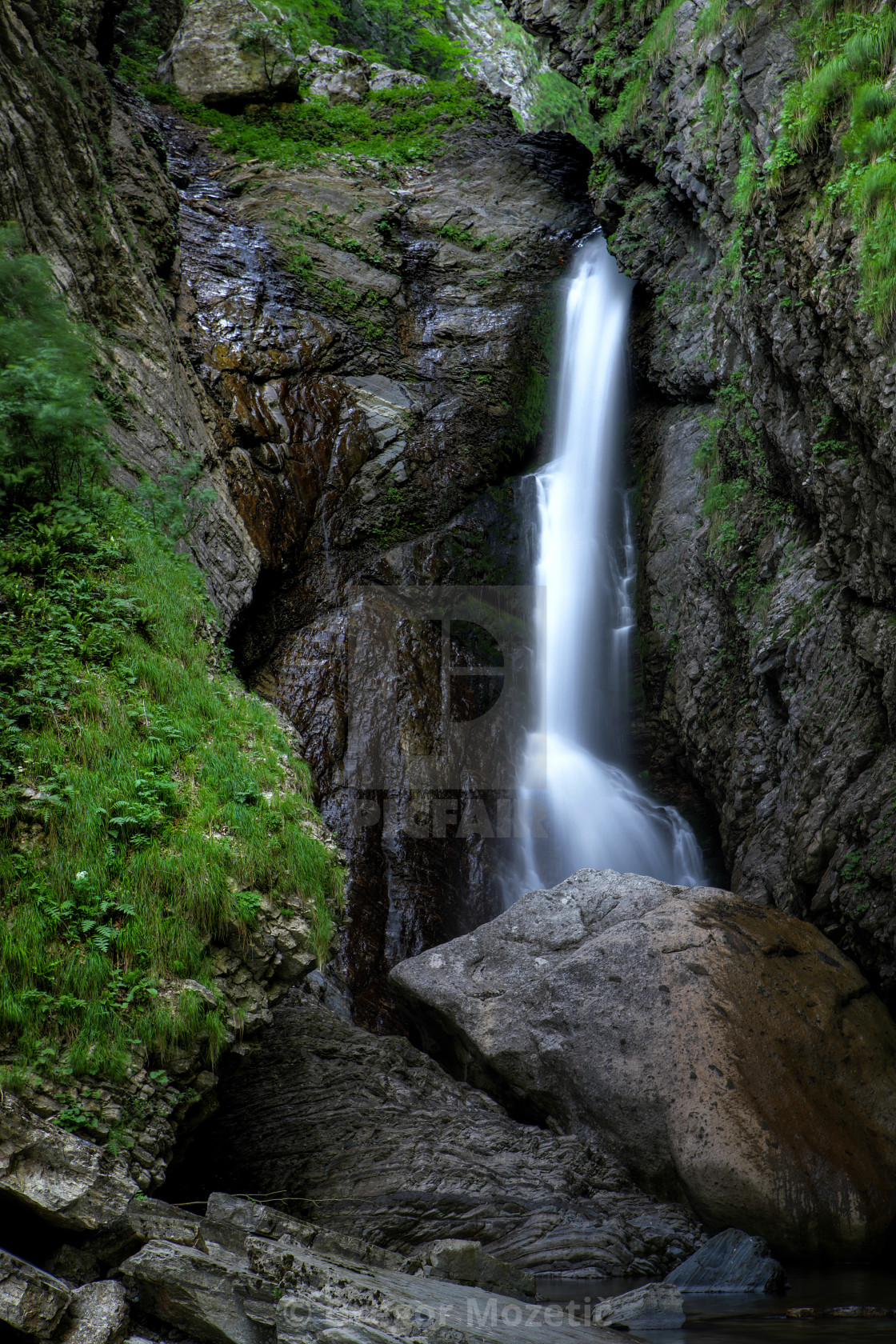 """Mountain Torrent in Slovenian Alps"" stock image"
