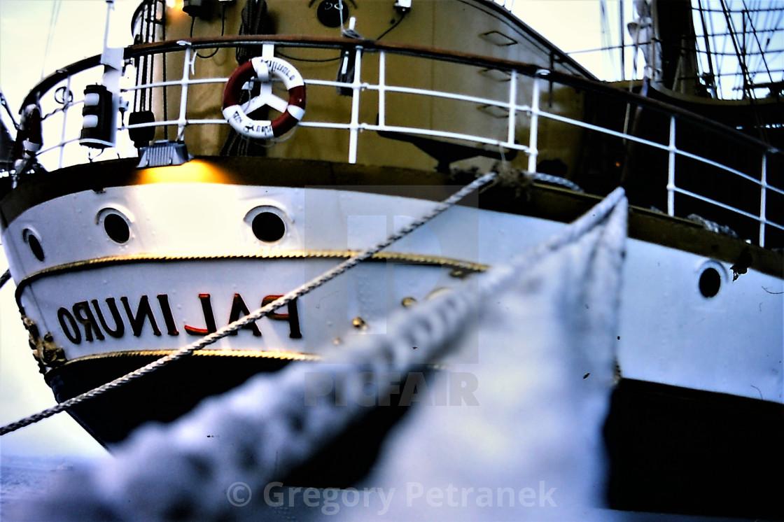 """Moored Ship"" stock image"