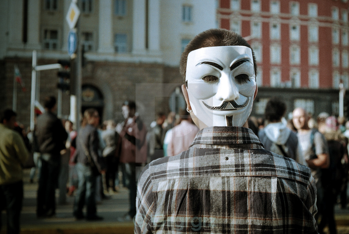 """anonymous no more"" stock image"