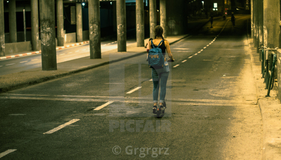 """""""On Her Way"""" stock image"""