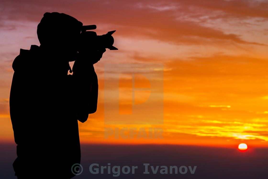 """Outdoor Photographer"" stock image"