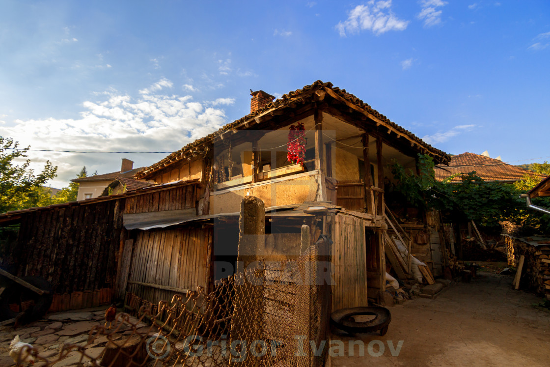 """Old clay house"" stock image"